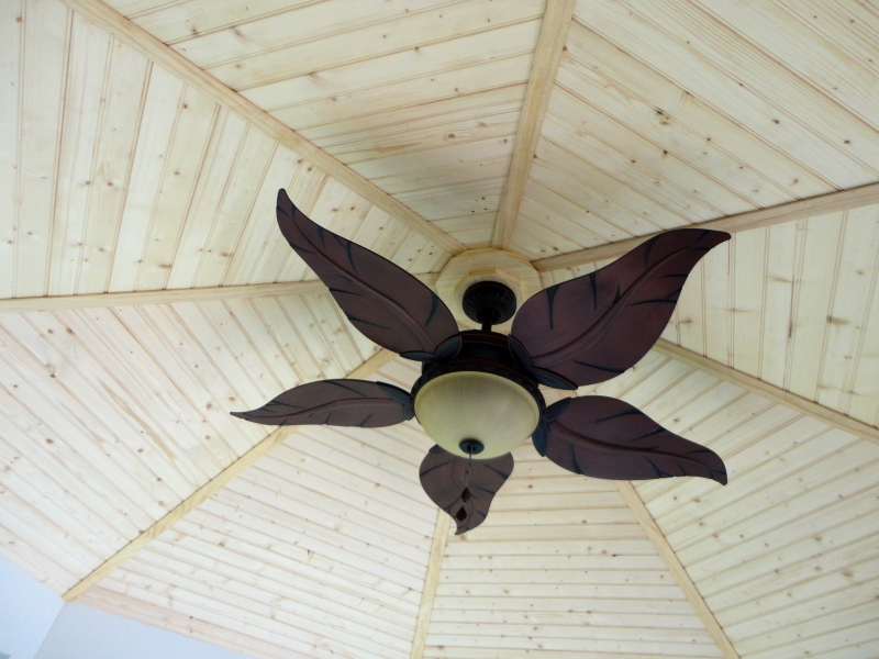 Beautiful Fan in Custom Gazebo