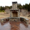 Custom Outdoor Fireplace by ProDeck